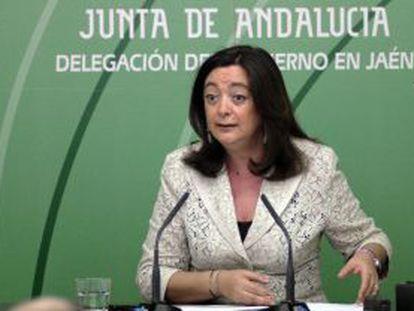 La consejera de la Presidencia de la Junta de Andalucía, Mar Moreno, ayer en Jaén.