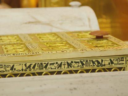 La máscara de oro de Tuthankamón, una de las piezas más importantes de la muestra
