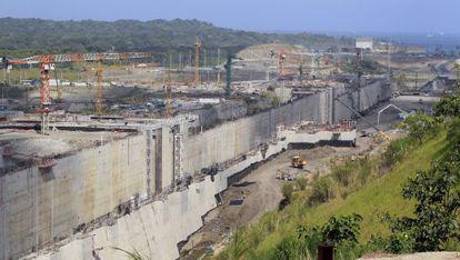 Los trabajos de ampliación del Canal de Panamá