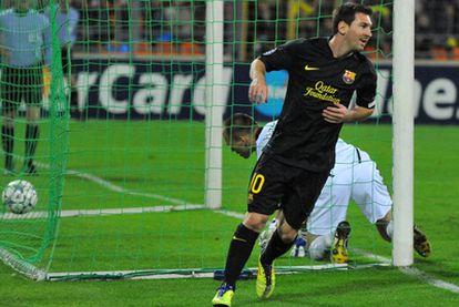 Messi, tras marcar el segundo gol