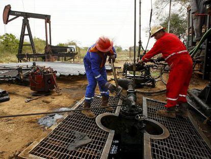 Una estación petrolífera en el estado de Zulia, en Venezuela.