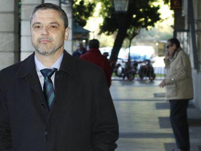 El exdirector de Mercasevilla Fernando Mellet, en los juzgados sevillanos.