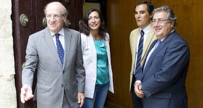 López Gabarro, con Pedro Rodríguez, José Antonio Nieto y Zoido.