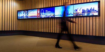 Interior del nuevo centro de innovación de Visa en Londres