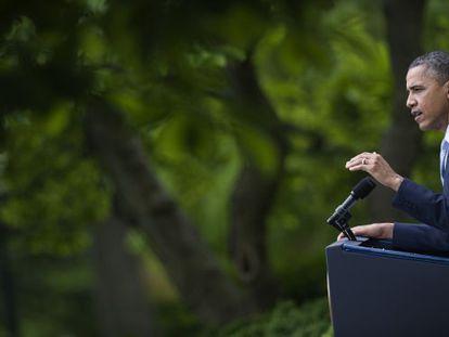 Obama, en la Casa Blanca, el martes.