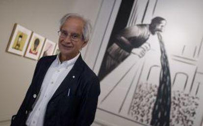 Andrés Rábago García, 'El Roto, durante la presentación de su exposición en la Nau en Valencia en 2013.