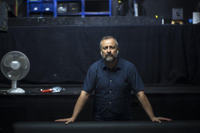 Ramón Mas, en su discoteca de Barcelona, Wolf, cerrada desde el 13 de marzo por la pandemia.