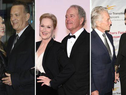 Tom Hanks y Rita Wilson, Meryl Streep y Don Gummer y Michael Douglas y Catherine Zeta Jones.