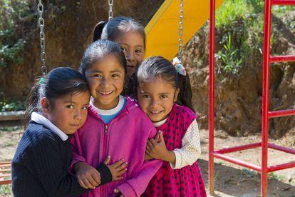 Niñas de una guardería de Oaxaca.