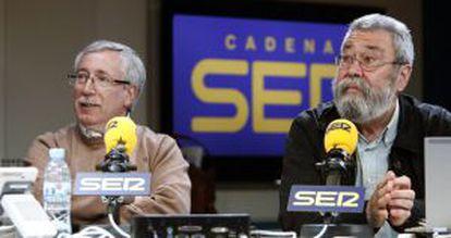 El secretario general de CC.OO, Ignacio Fernández Toxo, y el de UGT, Cándido Méndez.