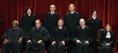 Miembros de la Corte Suprema de Justicia de Estados Unidos.