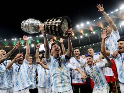 La victoria de Argentina en la final de la Copa América, en imágenes
