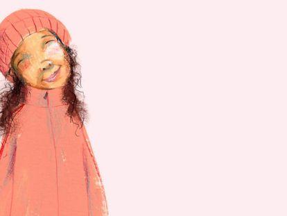Ilustración de Heidi, niña hondureña de ocho años sin papeles.