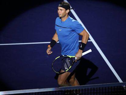 Rafael Nadal, antes de medirse a Cilic en la semifinal de ayer.