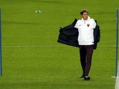 Rudi García, este lunes en el Camp Nou.
