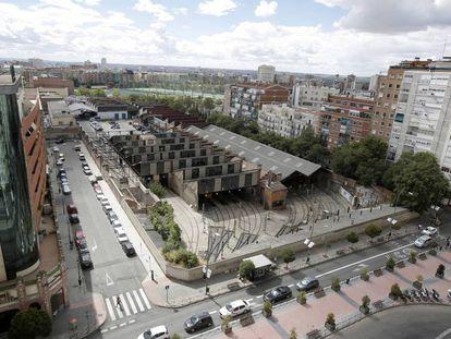 Las cocheras de Metro de Madrid en Cuatro Caminos.
