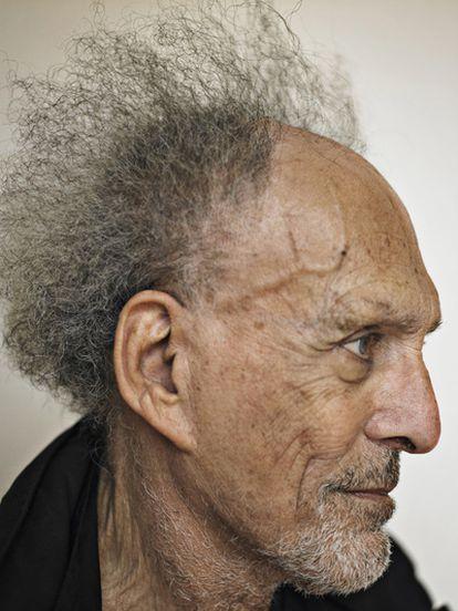 El cineasta Monte Hellman, retratado ayer en Venecia.