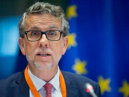 Juan Menéndez-Valdés, director de Eurofund, en Bruselas en 2016.