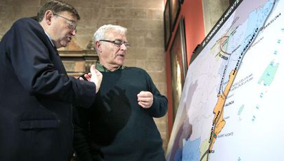 El jefe del Consell, Puig, y el alcalde de Valenca, Ribó.