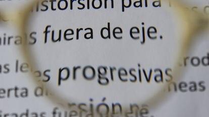 Imagen a través de unas lentes progresivas.