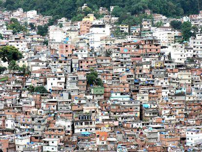 Slums en Rio de Janeiro, Brasil