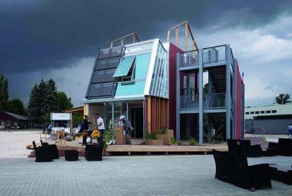 'Habitat', una de las instalaciones de la sección Maison POC dedicadas, por toda la ciudad de Lille, a repensar la vivienda de un modo responsable con el medio ambiente y con las personas que la habitan. |