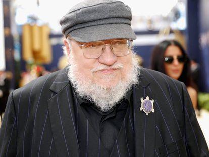 George R. R., en la ceremonia de los Emmy en septiembre.