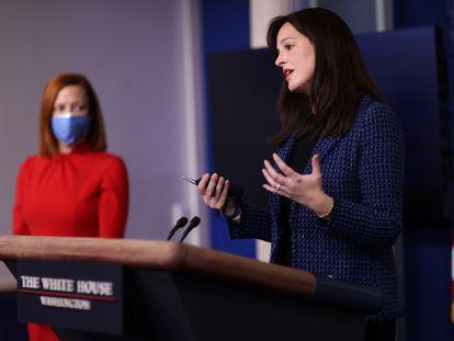 La asesora adjunta de ciberseguridad del Departamento de Seguridad Nacional de Estados Unidos, Anne Neuberger, la semana pasada en la Casa Blanca.