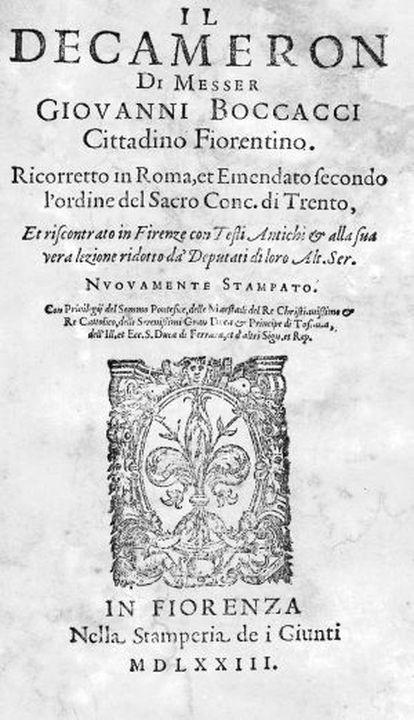 Edición de 'El Decamerón' de 1573.