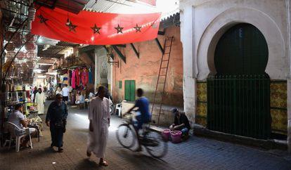 Un mercado en Marrakech, el 12 de septiembre