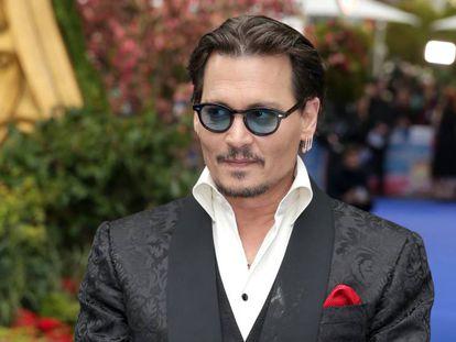 Johnny Depp durante la presentación de su última película.
