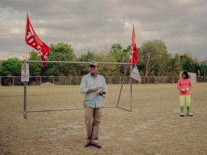 Mitin del alcalde Héctor Lara del partido FMLN, que busca su reelección por un periodo más en el municipio de El Paisnal, El Salvador el 22 de febrero del 2021. Fred Ramos para El País.
