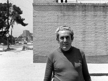 Marcelino Camacho, a las puertas de la cárcel de Carabanchel, el 12 de junio de 1976.