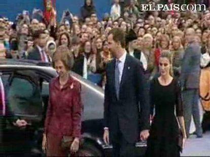 La Reina, Don Felipe y Doña Letizia presiden los Príncipe de Asturias
