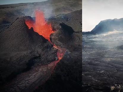 Así se apaga un volcán