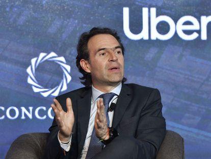 Federico Gutierrez, ex alcalde de Medellín, durante un panel de urbanismo en 2019.