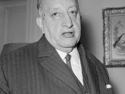 Miguel Ángel Asturias en 1967, el año en que recibió el Premio Nobel.