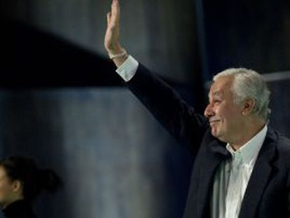 Javier Arenas, ayer en el cierre de la convención regional del PP en Málaga.