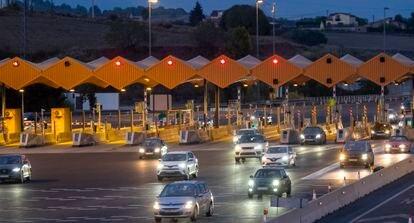 La autopista AP-7 a su paso por La Roca del Vallès el pasado lunes.