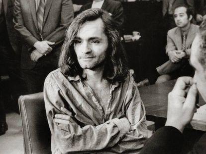 Charles Manson en una foto de los años setenta durante su juicio en Santa Mónica, California (EE UU).