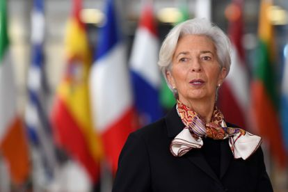 Christine Lagarde, presidenta del BCE, en una cumbre europea celebrada en Bruselas.