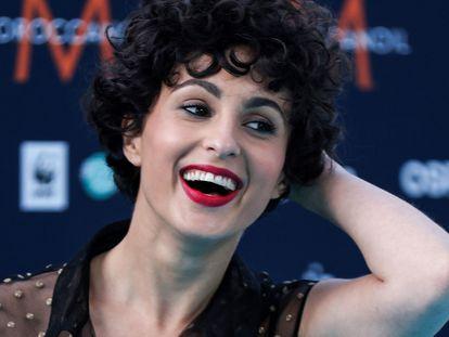 Barbara Pravi, en un acto dentro del marco de Eurovisión 2021, en Róterdam, Países Bajos, el 16 de mayo de 2021.