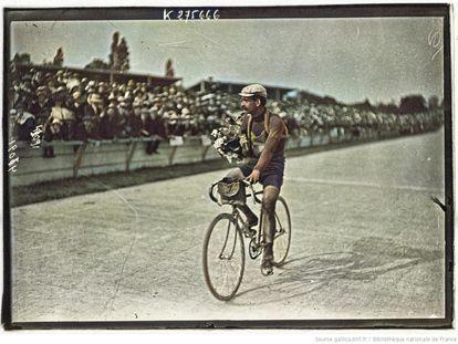 Louis Trousselier, durante el Tour de 1905.
