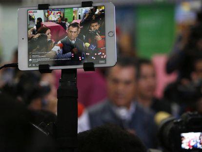 Jaime Rodríguez Calderón, a su llegada a Ciudad de México, el pasado miércoles.