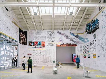 El pabellón español en la XVI Bienal de Arquitectura de Venecia.