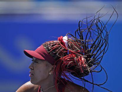 Osaka, durante el partido contra Zheng en el Ariake Tennis Park de Tokio.