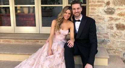Pau Gasol y su esposa, Catherine McDonnell.