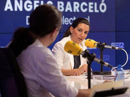 Rocío Monasterio se dirige a Iglesias en el debate en la Cadena Ser, que este abandonó.
