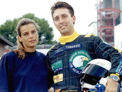 Estefanía de Mónaco con Daniel Ducruet, en 1995, cuando estaban casados.
