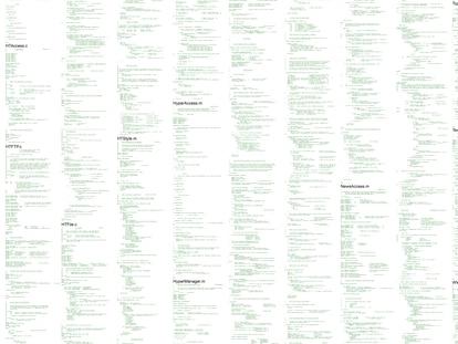 Extracto del código original de la world wide web